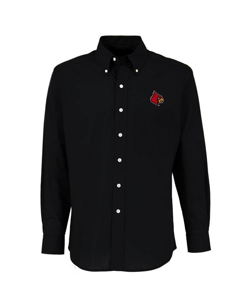Antigua Group DRESS SHIRT, LS, DYNASTY, BLACK, UL