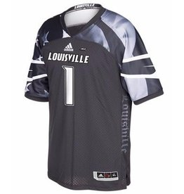 Adidas Sports Licensed JERSEY, ADIDAS, FOOTBALL, PATRIOT, BLACK, UL
