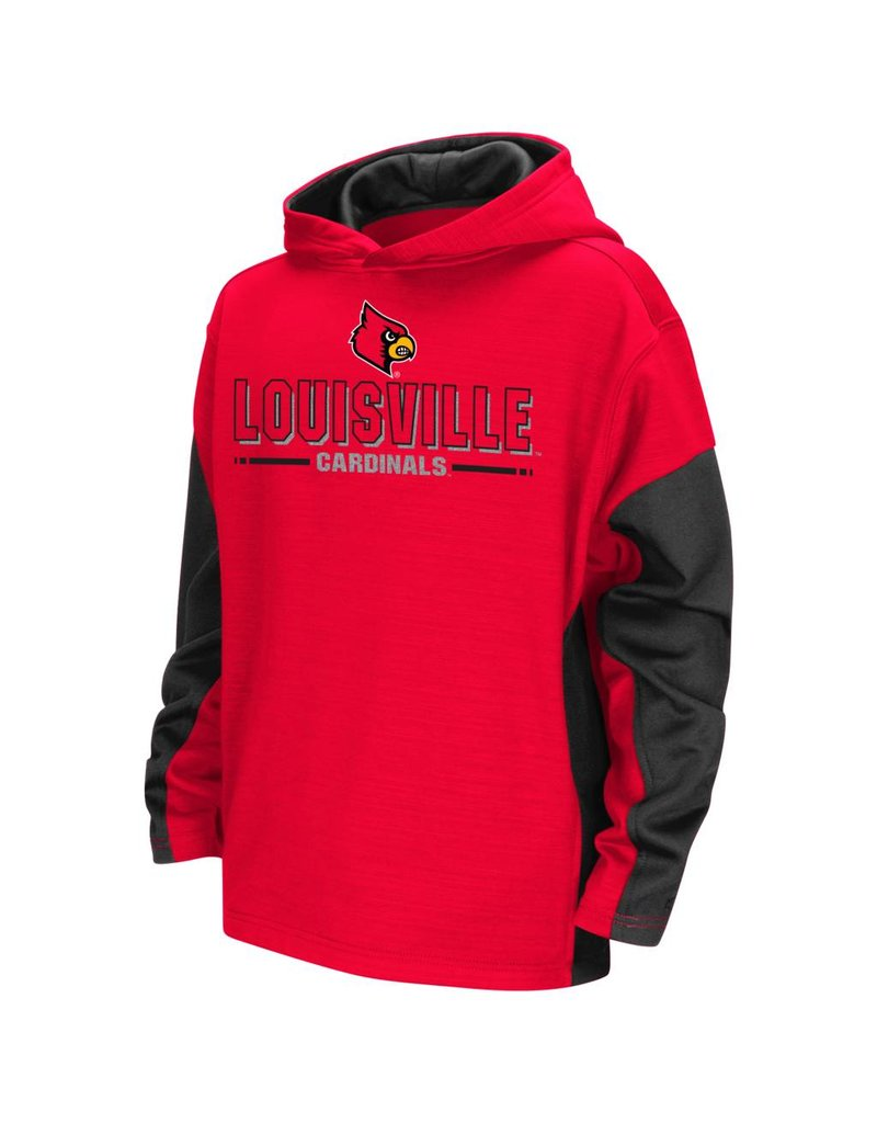 Colosseum Athletics HOODY, YOUTH, SETTER, RED/BLACK, UL