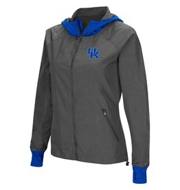 Colosseum Athletics HOODY, LADIES, BACKSIDE, CHARCOAL/ROYAL, UK