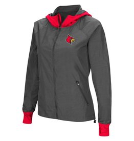 Colosseum Athletics HOODY, LADIES, BACKSIDE, CHARCOAL/RED, UL