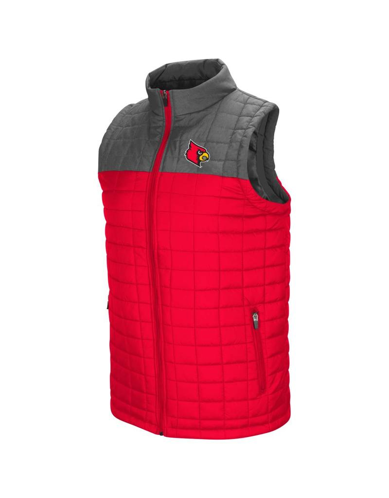 Colosseum Athletics VEST, AMPLITUDE, RED/CHARCOAL, UL