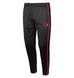 Colosseum Athletics PANT, TAPERED, BLOCK, BLACK/RED, UL
