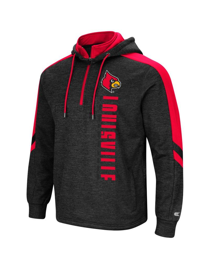 Colosseum Athletics HOODY, 1/4 ZIP, LAWRENCE, CHR/RED, UL