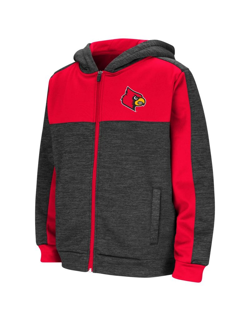 Colosseum Athletics HOODY, YOUTH, FRATELLI, BLK/RED, UL