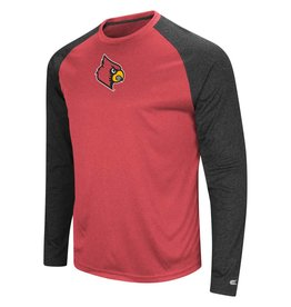 Colosseum Athletics TEE, LS, RAGLAN, LUMBERGH, RED/BLK, UL