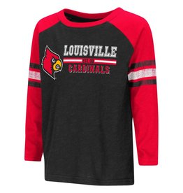 Colosseum Athletics TEE, TODDLER, LS, HIDDEN, RED/BLK, UL