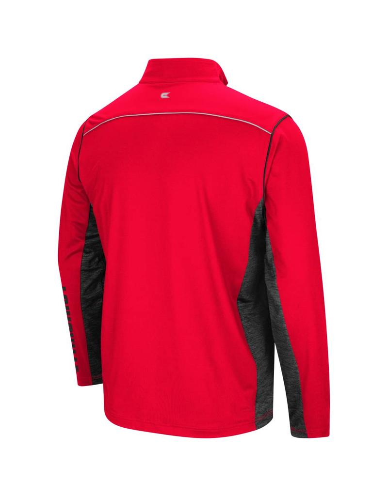 Colosseum Athletics PULLOVER, 1/4 ZIP, WINDSHIRT, RED/BLK, UL