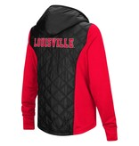 Colosseum Athletics JACKET, LADIES, FULL ZIP, SIX FINGERS, RED/BLK, UL