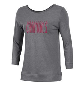 Gear for Sports TEE, LADIES, 3/4 SLEEVE, TWO SCOOP, GRAY, UL