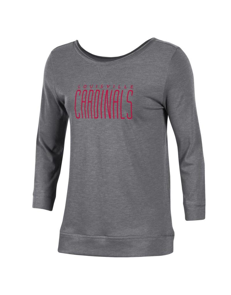 TEE, WOMENS, 3/4 SLEEVE, TWO SCOOP, GRAY, UL