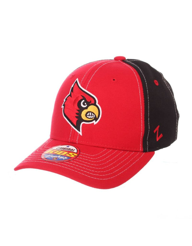 HAT, YOUTH, ADJUSTABLE, STAPLE, RED/BLACK, UL