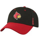 Top of the World HAT, YOUTH, FLEX-FIT, ROCKET, BLACK/RED, UL