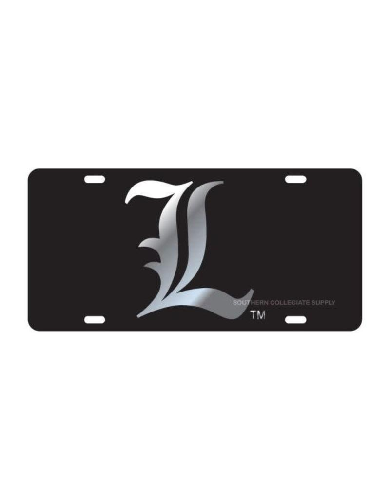 Craftique LICENSE PLATE, SILVER L, BLACK, UL