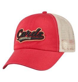 Top of the World HAT, ADJUSTABLE, CLUB, RED/KHAKI, UL