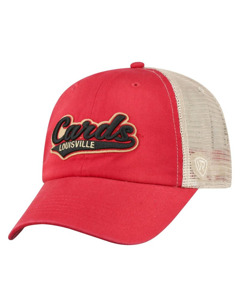 Top of the World HAT, ADJUSTABLE, CLUB, RED/KHA, UL