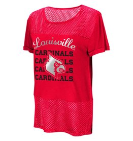 Colosseum Athletics TEE, LADIES, SS, NO CRYING, RED, UL