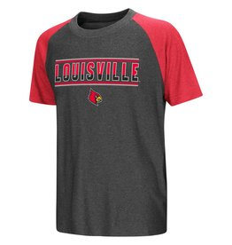 Colosseum Athletics TEE, YOUTH, SS, SCOTTY, GRAY/RED, UL