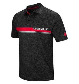 Colosseum Athletics POLO, POLY SLUB, DIG IN (MSRP 60.00), BLACK, UL