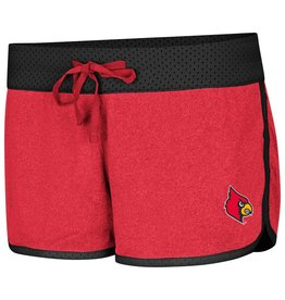Colosseum Athletics SHORT, LADIES, REVERSIBLE, BELLES, BLACK/RED, UL