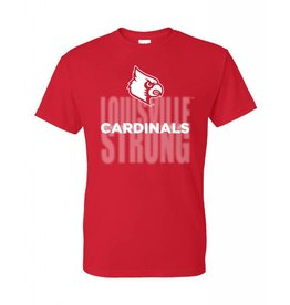 TEE, SS, LOUISVILLE STRONG, RED, UL