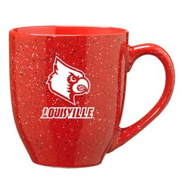 MUG, BISTRO, SPECKLED, RED, UL