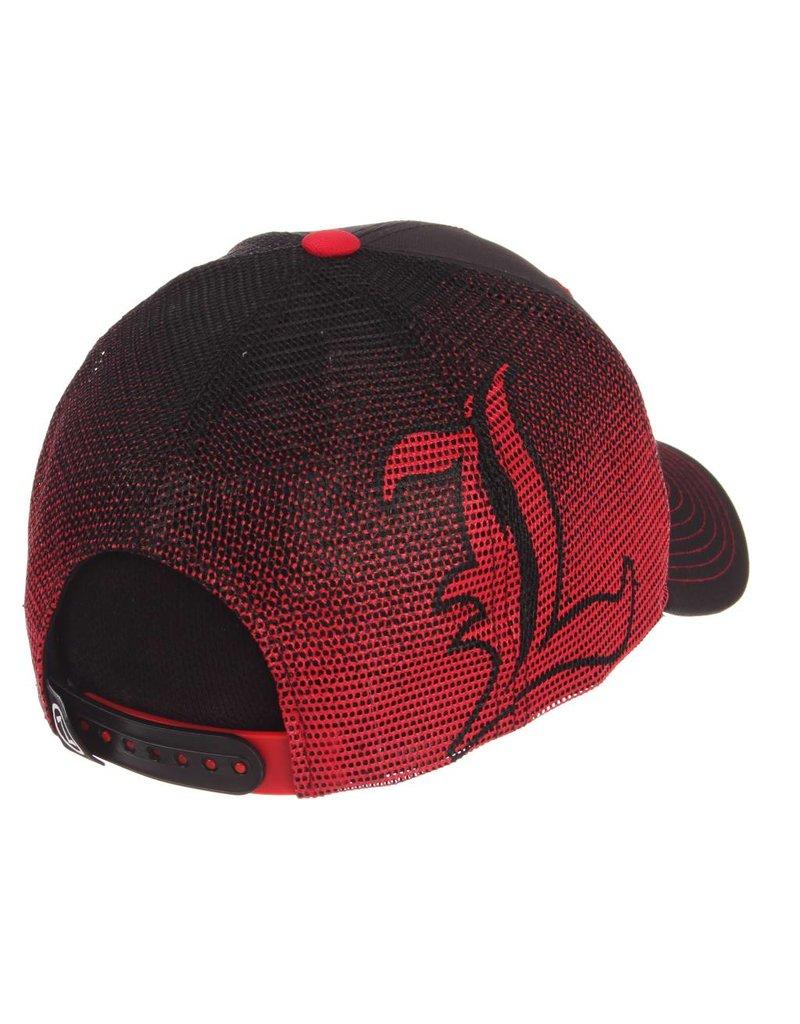 HAT, ADJUSTABLE, GAMEFACE, BLACK/RED, UL