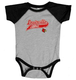 Little King ROMPER, INFANT, SS, BASEBALL, BLACK, UL