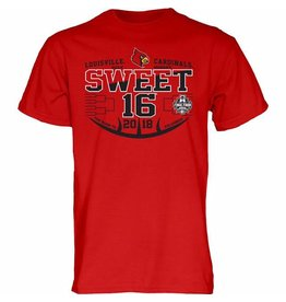 Step Ahead Sportswear TEE, SS, SWEET 16, WOMEN'S BASKETBALL, RED, UL