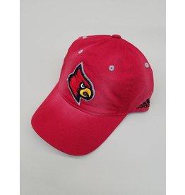 Adidas Sports Licensed HAT, ADJUSTABLE, SANDBLASTED, RED, UL
