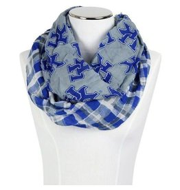 SCARF, INFINITY, TARTAN, ROYAL/GRAY, UK