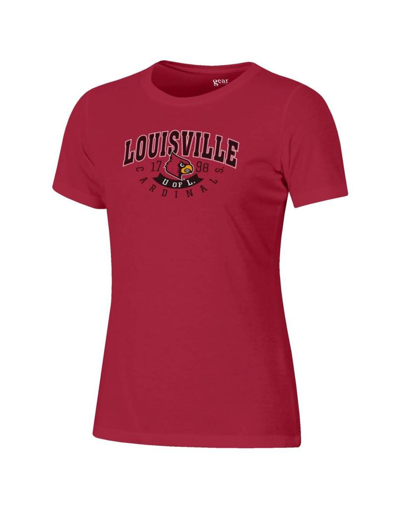 TEE, LADIES, SS, RELAXED CLASSIC, RED, UL