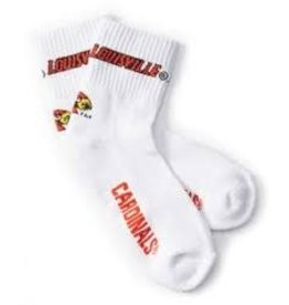 SOCKS, QUARTER, CARDINALS, WHITE, UL