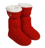 BOOT, LADIES, KNIT, RED/WHITE, UL