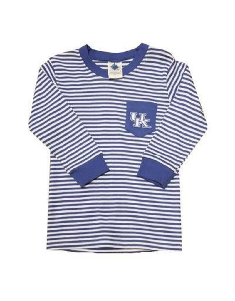 Creative Knitwear TEE, TODDLER, LS, POCKET TEE, STRIPED, UK