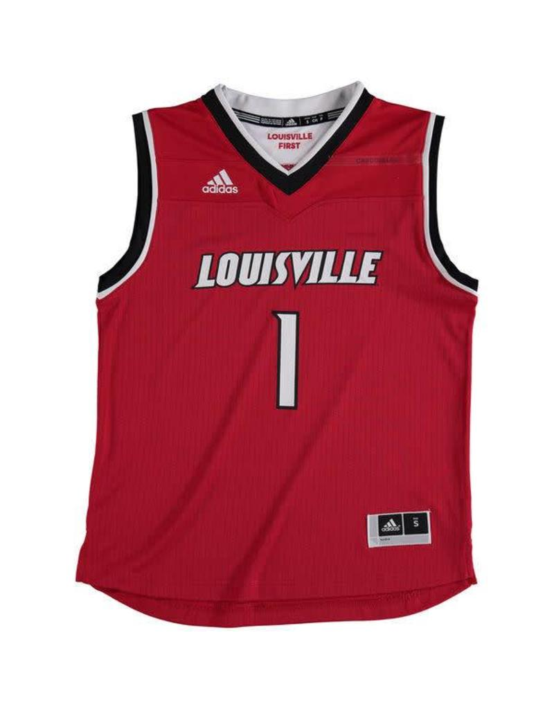 Adidas Sports Licensed JERSEY, YOUTH, ADIDAS, BASKETBALL, RED, UL