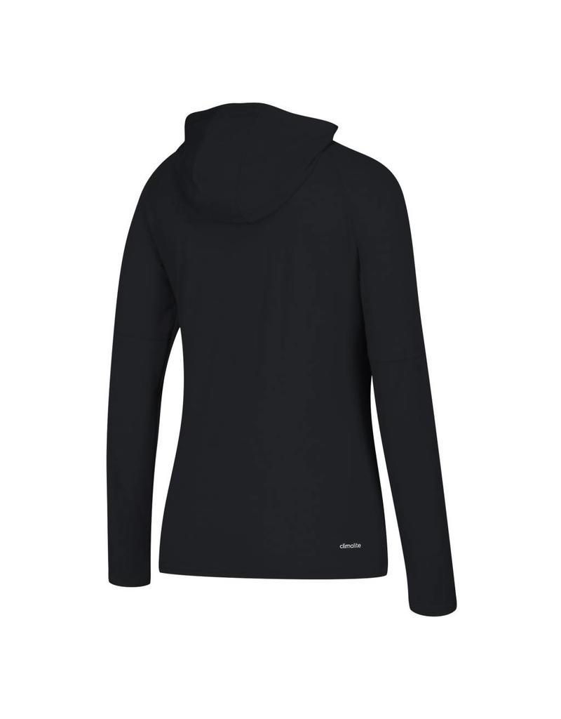 Adidas Sports Licensed TEE, LS, WOMENS, ADIDAS, REPEAT STACK, BLACK, UL