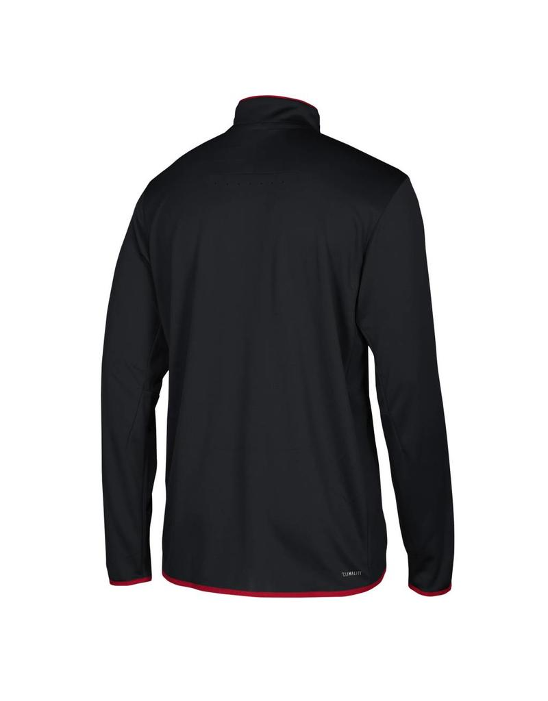 Adidas Sports Licensed PULLOVER, 1/4 ZIP, ICONIC KNIT, BLACK, UL