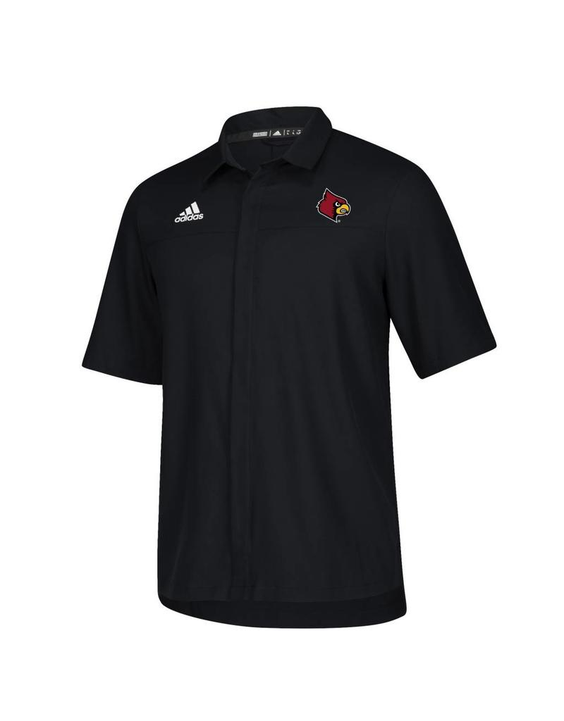 Adidas Sports Licensed POLO, ADIDAS, ICONIC FULL BUTTON, BLACK, UL