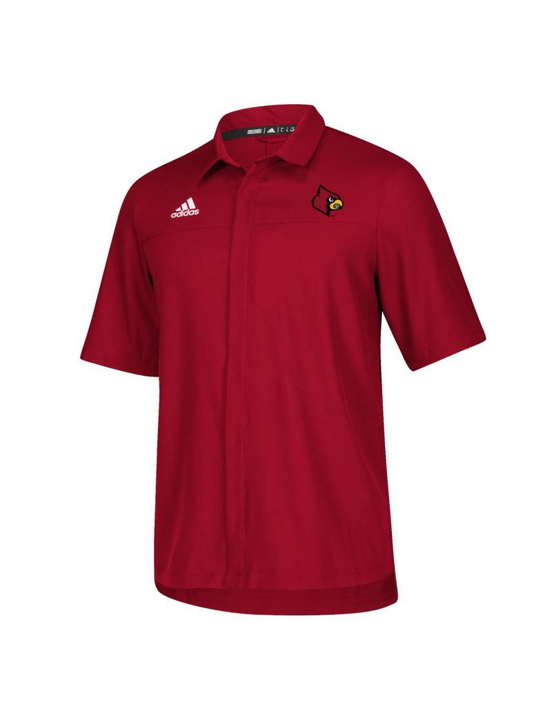 Adidas Sports Licensed POLO, ADIDAS, ICONIC FULL BUTTON, RED, UL