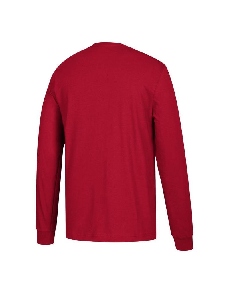 Adidas Sports Licensed TEE, LS, ADIDAS, TEAM HELMET, RED, UL