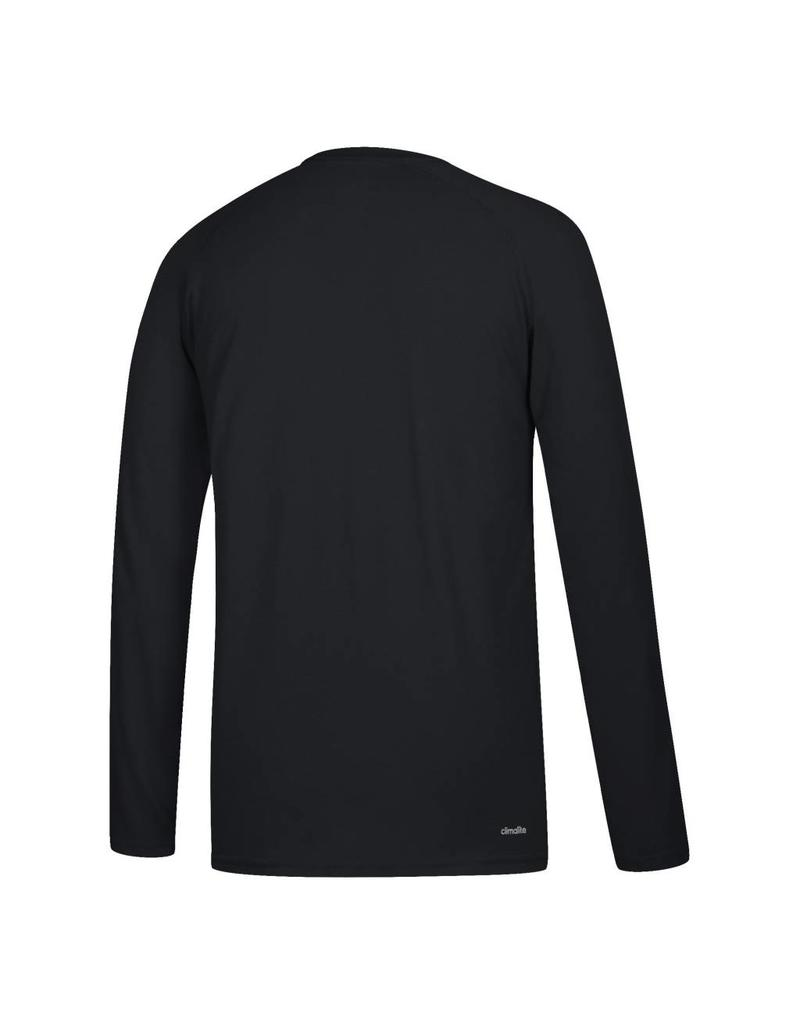 Adidas Sports Licensed TEE, LS, ADIDAS, SIDELINE RUSH, BLACK, UL