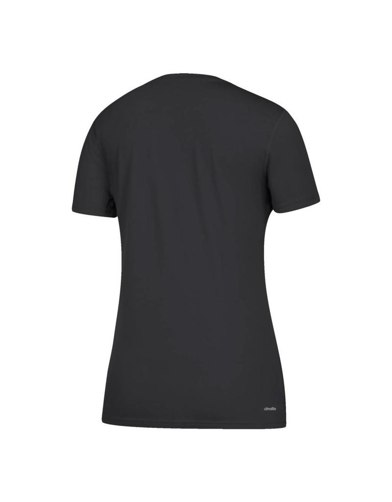 Adidas Sports Licensed TEE, LADIES, SS, ADIDAS, SIDELINE FOOTBALL, BLACK, UL