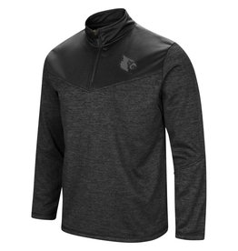 Colosseum Athletics PULLOVER, 1/4 ZIP, COUGARS, BLACK, UL