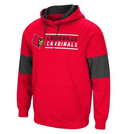 Colosseum Athletics HOODY, RED THIRTY, RED/BLACK, UL