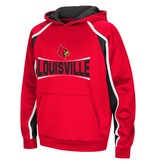 Colosseum Athletics HOODY, YOUTH, HOOK & LATERAL, RED/BLACK, UL