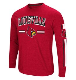 Colosseum Athletics TEE, LS, TOUCHDOWN, RED, UL