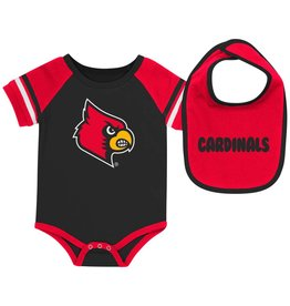 Colosseum Athletics ONESIE, ROLL-OUT, W/BIB, RED, UL