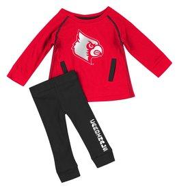Colosseum Athletics SET, INFANT, NICE KICK, TUNIC , RED/BLACK, UL