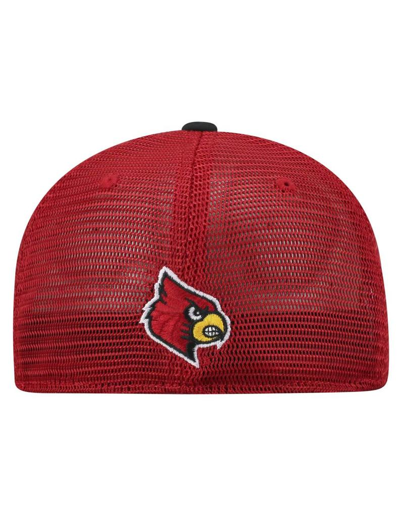 Top of the World HAT, 1-FIT, CHATTER, RED/BLK, UL